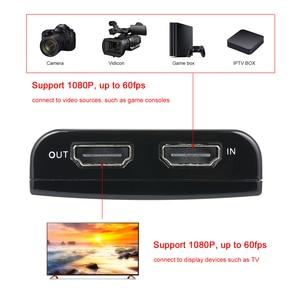 Image 4 - Ezcap 266 1080P HD boîte de Capture de jeu vidéo pour le soutien vidéo en direct 1080P entrée vidéo et sortie micro entrée noir