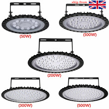 2pcs 50W100W 200W 300W 500W 220V UFO LED Low Bay Lights High Lumen Factory Commercial Lighting Industrial Warehouse