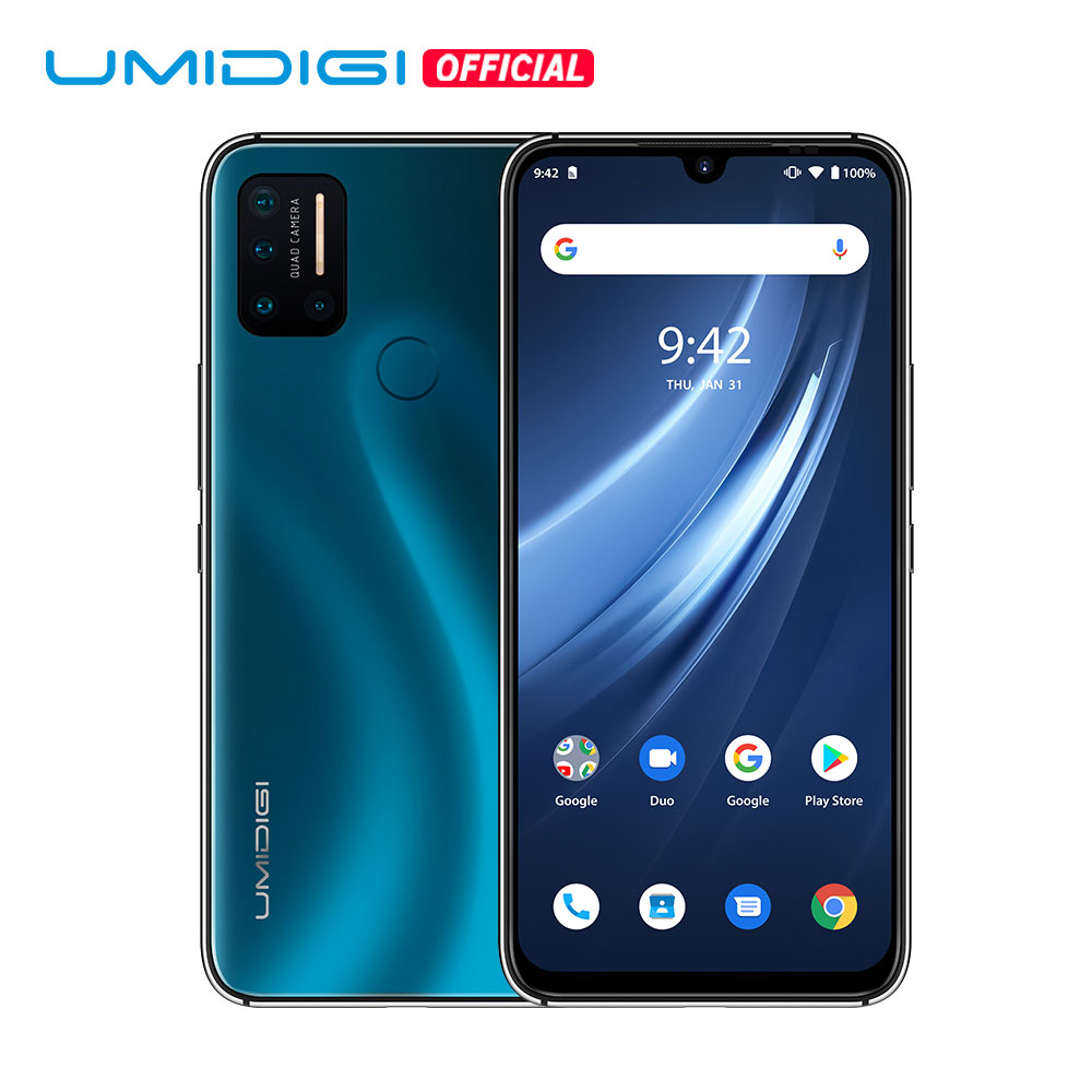 "UMIDIGI A7 Pro Global Version Smartphone 4G Quad Camera Android 10 OS 6.3"" FHD+ Full Screen 64GB/128GB ROM Octa Core Cellphone(China)"