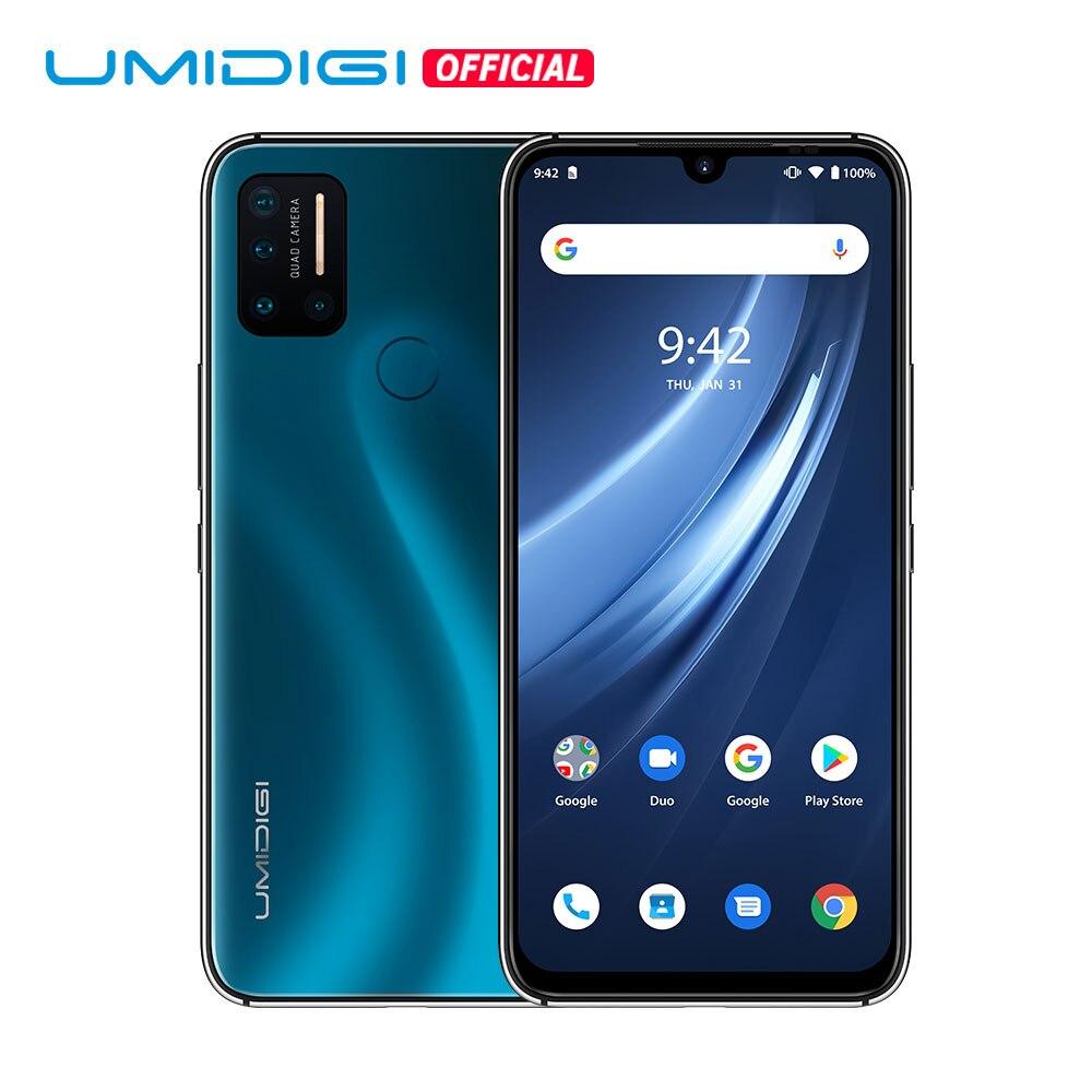 Umidigi-teléfono inteligente A7 Pro, versión Global, teléfono móvil con 4G, Quad Cámara, Android 10 OS, Pantalla Completa FHD de 6,3 pulgadas, 64GB/128GB ROM, Octa Core