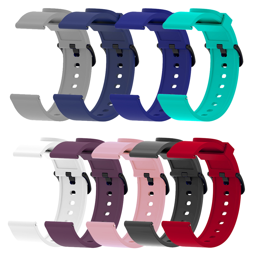 Lastest For Huami Amazfit BIP Youth Smart Watch Sport Strap 20mm  Bluetooth Silicone Multi-color Wristband Accessories