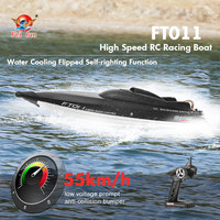 Original FT011 2.4G 55km/h High Speed RC Racing Boat Speed with Water Cooling Flipped System RC ft011 boat
