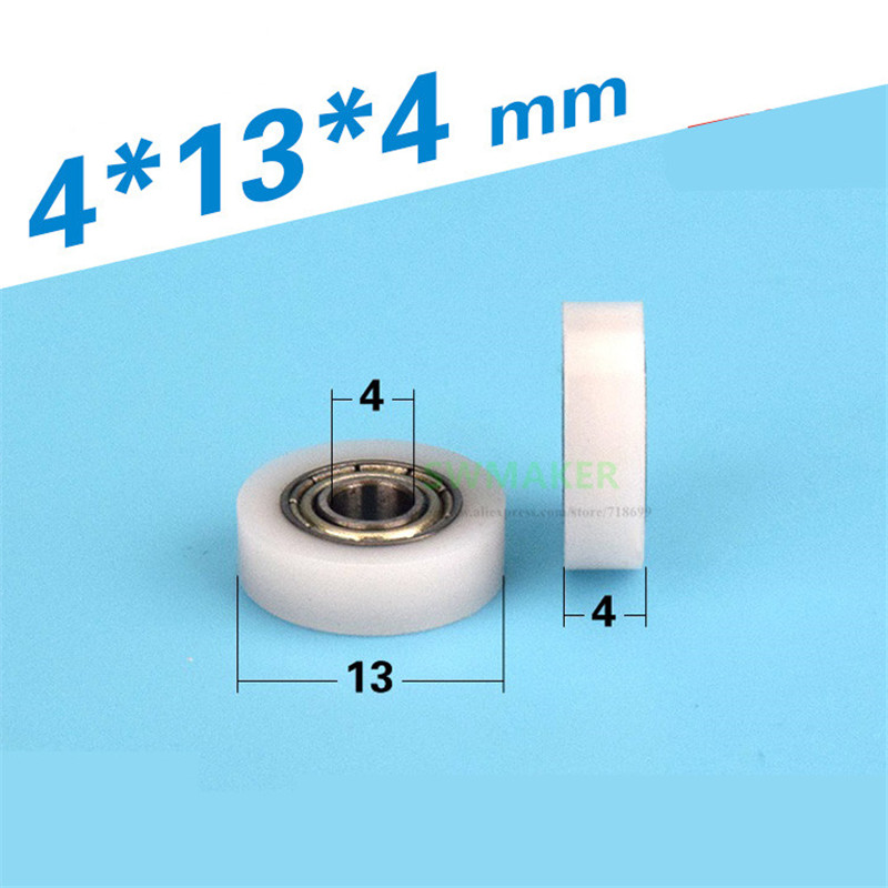 10pcs 4*13*4mm 684 Bearing Micro Pulley, Plastic Small Wheel, POM Plastic Covered Pulley / Roller / Flat Wheel