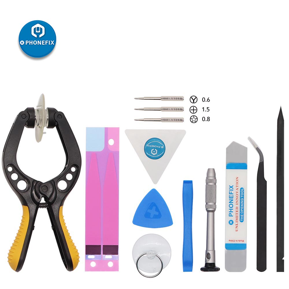 PHONEFIX DIY Phone Disassembly Repair Tool Set LCD Opening Pliers Screwdriver Crowbar Tweezers Spudger For Mobile Phone Repair