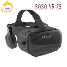 Vr óculos z5 realidade virtual 3d vr áudio visual integrado óculos vr caixa alça preta