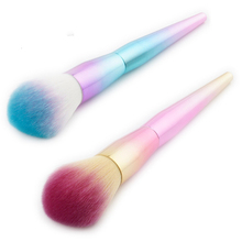 Makeup Brush U Type Beautiful Make Up Tool Powder Blue / Yellow Gradual Change Scattered Bring Carton
