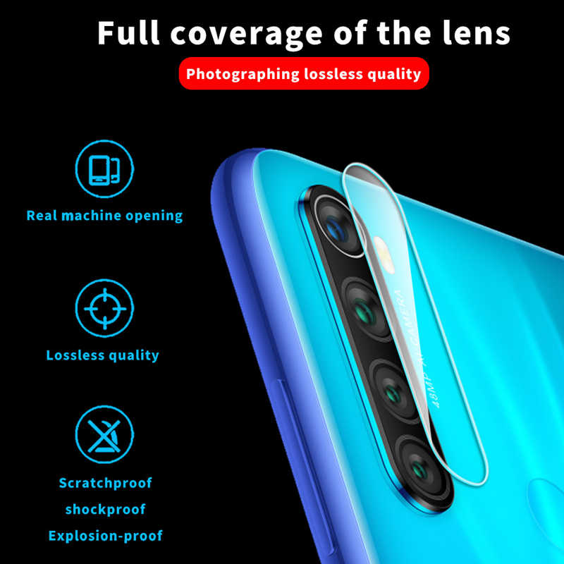 2 in 1 กระจกนิรภัยสำหรับ Xiaomi redmi Note 8 Pro สำหรับ redmi Note 8pro ป้องกันหน้าจอ mi8 proCamera Toughened เลนส์