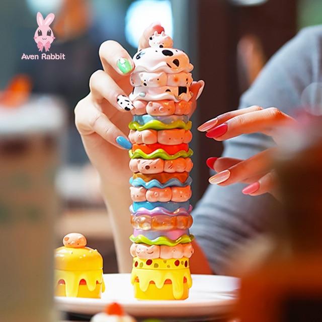 Burger Pig Blind Box Toys Figures Action Surprise Box Toy for Girls Guess Bag Caja Sorpresa Cute Model Gift Magnet Figurine 2