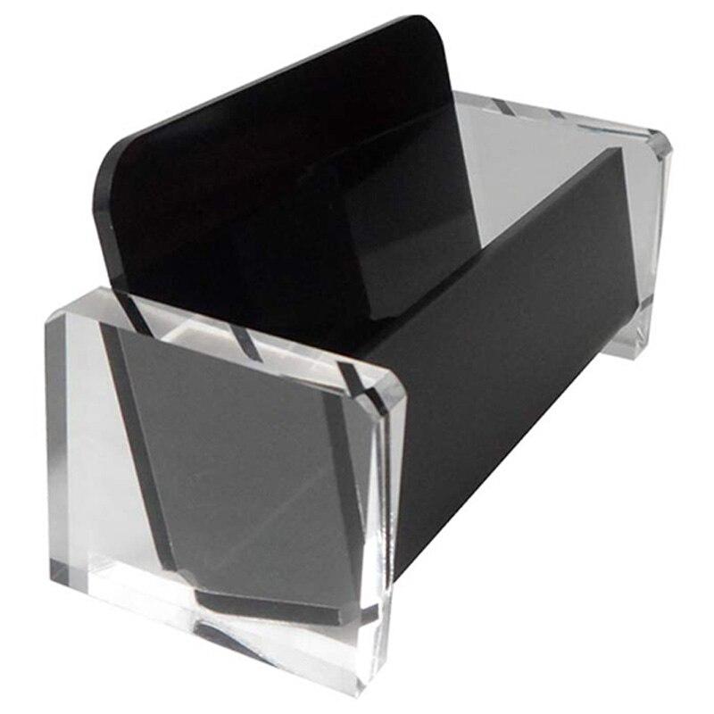 Acrylic Desktop Business Card Holder Display For Desk Elegant Business Card Stand For Office Black