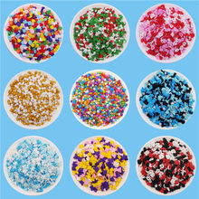 Color Edible Sugar Bead Sugar Slice Mixed Sugar Birthday Cake Dessert Decoration Baking Material Multicolor Optional Cake Topper(China)