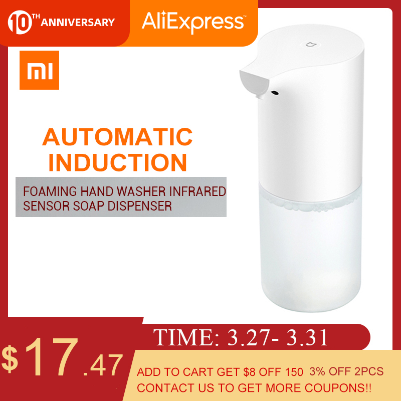 Xiaomi 60-90MM Automatic Induction Sensor Foaming Soap Dispenser Infrared Foaming Hand Washer IPX4 Soap Dispensers For Bathroom