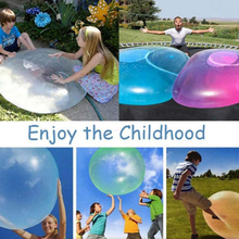 QWZ New Children Outdoor Soft Squishies Air Water Filled Bubble Ball Blow Up Balloon Toy Fun Party Game for Kids Inflatable Gift qwz new magnet toy bars