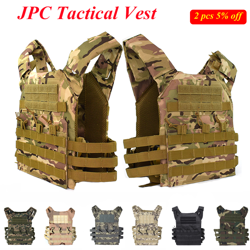 Hunting Tactical Accessories Body Armor Vest JPC Simple Version Plate Carrier Molle Vest Multicam Ammo Magazine Airsoft Vest