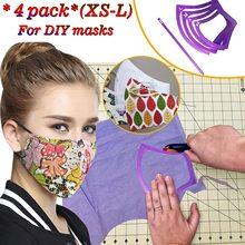 Plantilla de costura para mascarilla, molde de máscara de plástico con patrón, herramientas elásticas, bricolaje, Xs-l, 4 Uds.