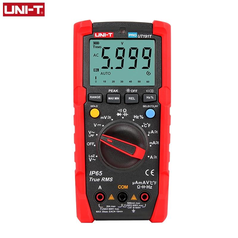 UNI-T Digital Multimeter Capacitor DMM Count True Rms Profesional UT191T Auto-Range DC
