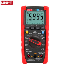UNI-T testador multímetro digital profissional ut191t ut191e, verdadeiro rms faixa automática dmm 20a amperímetro 600v contagem 6000 dc ac capacitor,
