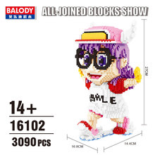 Balody Mini Blocks Arale Anime Auction Figures Cartoon Bricks Building Toy Brinquedos for Children Christmas Gifts Girl Present