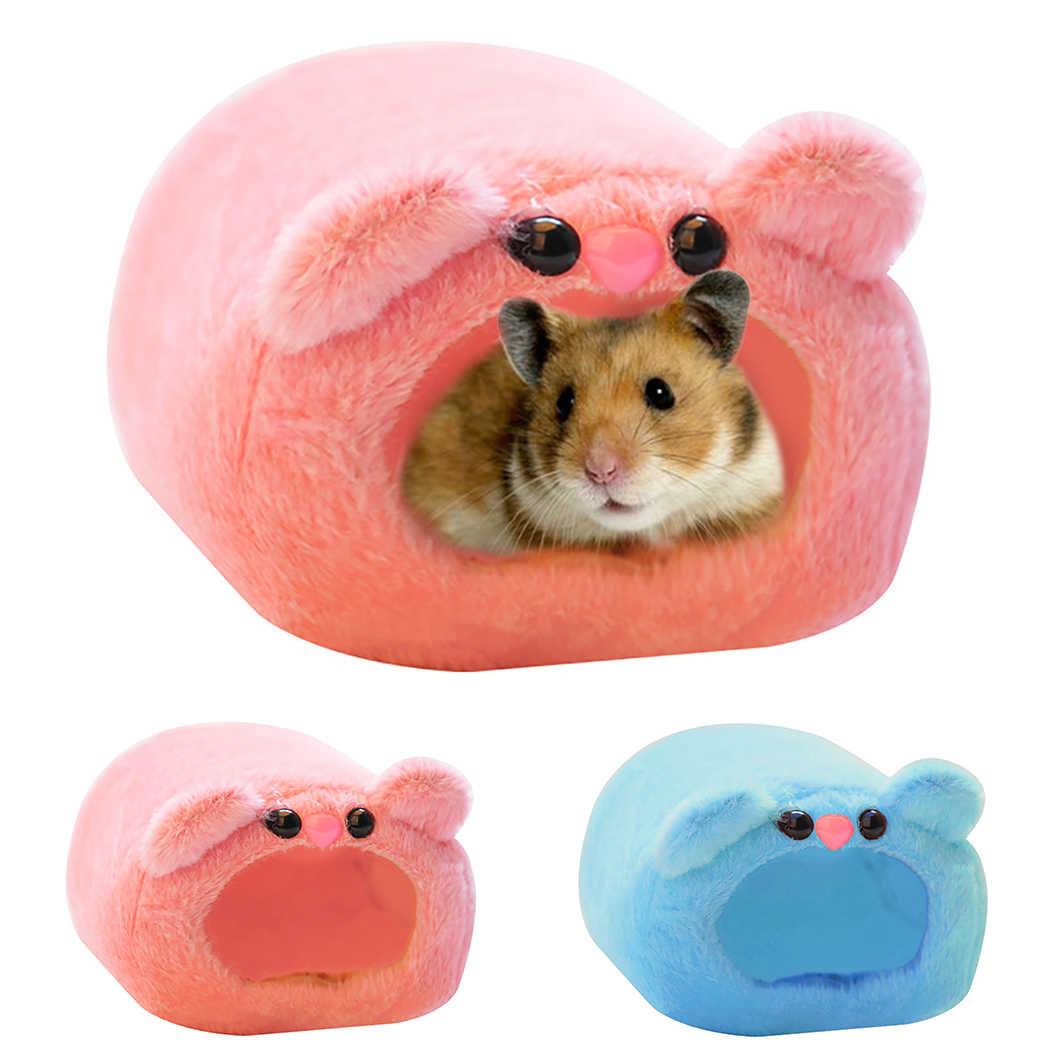 Hamster Grotte Hiver Chaud Mignon Dessin Anime Ours Conception Hamster Lit Petit Animal Cage Lit Souris Cochon D Inde Lit Hamster Nid Aliexpress