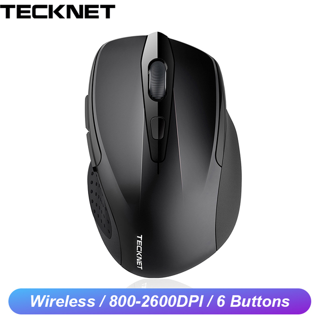 TeckNet Optical Wireless Mouse Computer Bluetooth Mouse 2600DPI 2.4G Wireless Bluetooth Mouse Ergonomic Mice for Laptop/Tablet
