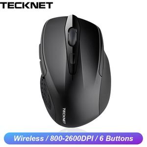 Image 1 - TeckNet Quang Chuột Không Dây Máy Tính Bluetooth Chuột 2600DPI 2.4G Không Dây Bluetooth Thiết Chuột Cho Laptop/Máy Tính Bảng