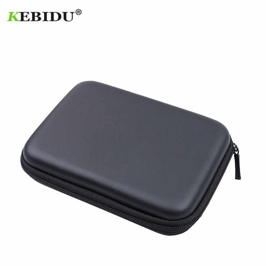 "KEBIDU 2.5 ""HDD Tas Externe USB Harde Schijf Schijf Carry Mini Oortelefoon Tas Usb Cable Case Cover Pouch voor PC Laptop Hard Disk Case"
