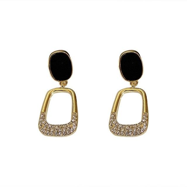 2021 Resplendent Square Earrings Advanced Fashion Euro American Pure Simple Earrings Queen's Temperament Earrings 5