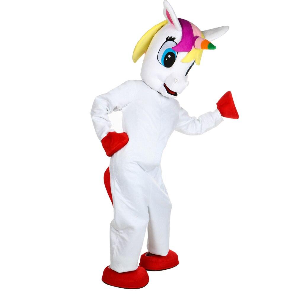 Dessin animé licorne mascotte costume cheval mascotte défilé Clowns anniversaires pour adulte Animal Halloween fête costumes