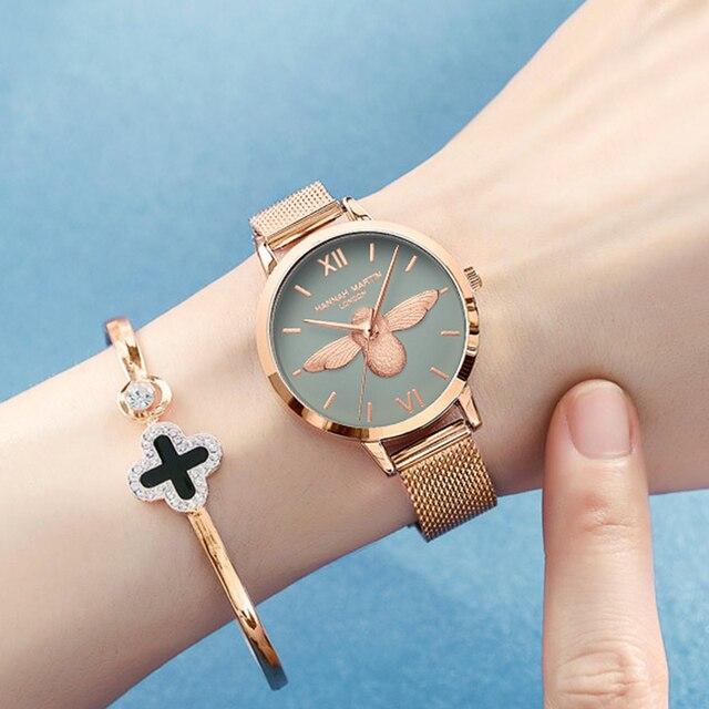 Women Watches Mesh Stainless Steel 3D design dial Japan Quartz Movement Top Brand Female Waterproof Wristwatch Clock Relogio 4
