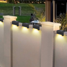 16pcs LED Solar Lamp Path Stair Outdoor Waterproof Wall Light Garden Landscape Step Stair Deck Lights Balcony Fence Solar Light