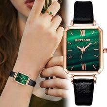 Montre de luxe Malachite cadran pour femmes dame Simple plaque carrée montre numérique amant saint valentin cadeau horloge-bracelet montres