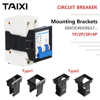 Circuit Breaker Brackets MCB Mounting Base DZ47 C45 C65 L7 Fixed Frame Holes 1P 2 3 4 Poles Black Plastic Rack Miniature chint short circuit protector home protection miniature circuit breaker air switch dz47 60 4p c25 mcb