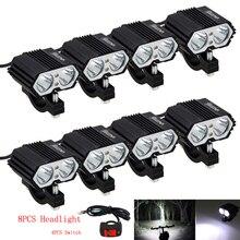 8PCS/Lot 30W 5000LM Motorcycle Headlight Spot light 2x XM-L T6 LED Fog Driving Lamp with Switch