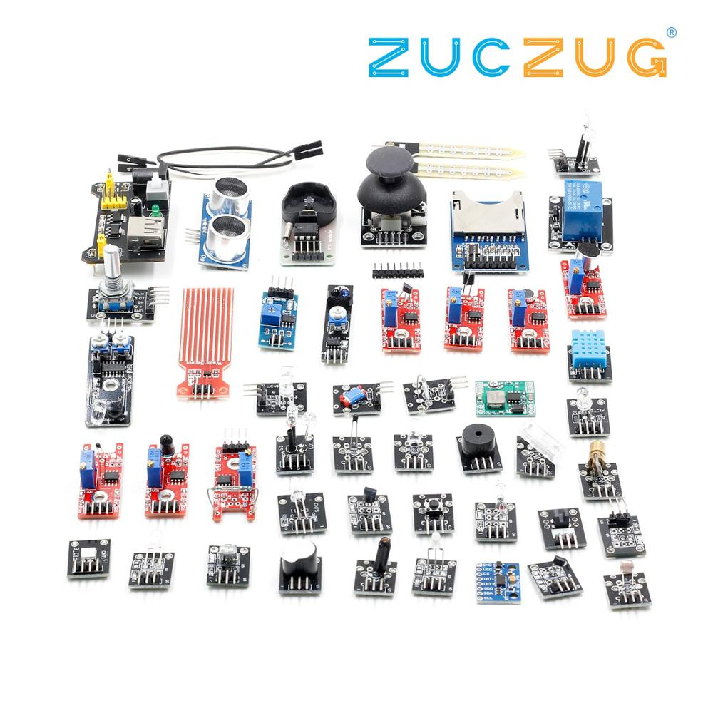 Para arduino 45 em Módulos de Sensores 1 Starter Kit melhor do que o sensor kit 37 em 1 37in1