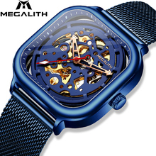 Fashion Top Brand MEGALITH Man Watch Sport Waterproof Stainless Mesh Men Watches Casual Mechanical Relogio Masculino