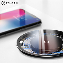 Tehran 10W Qi Wireless Charger for iPhone X XS Max XR 8 Plus Transparent Surface Wireless Charging Pad for Samsung S9 Note 9 10