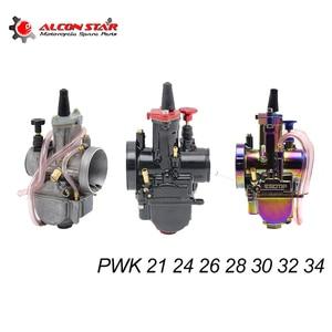 Alconstar- Universal 21 24 26 28 30 32 34 2T/4T PWK Motorcycle Carburetor Carburador Power Jet For Yamaha Mikuni Koso ATV Suzuki