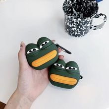 Sad Frog Pattern Protective Case Silicone Cover for Airpods 1/2 Charging Box Kit 3XUE