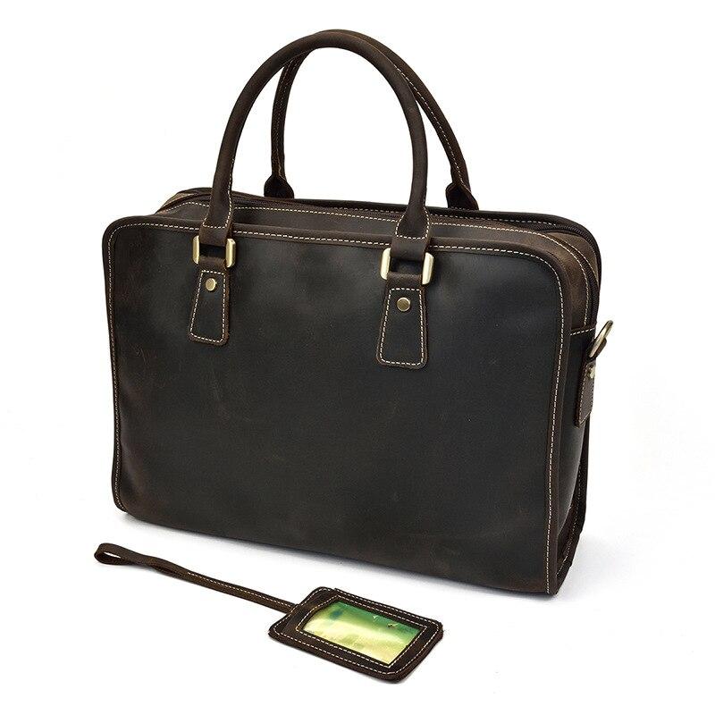 MAHEU محمول جلد طبيعي 15.6 بوصة الرجال حقيبة العمل حمل مكتب رجل محفظة حقيبة أعمال جلدية الملحق حالة-في حقائب جلدية من حقائب وأمتعة على  مجموعة 3