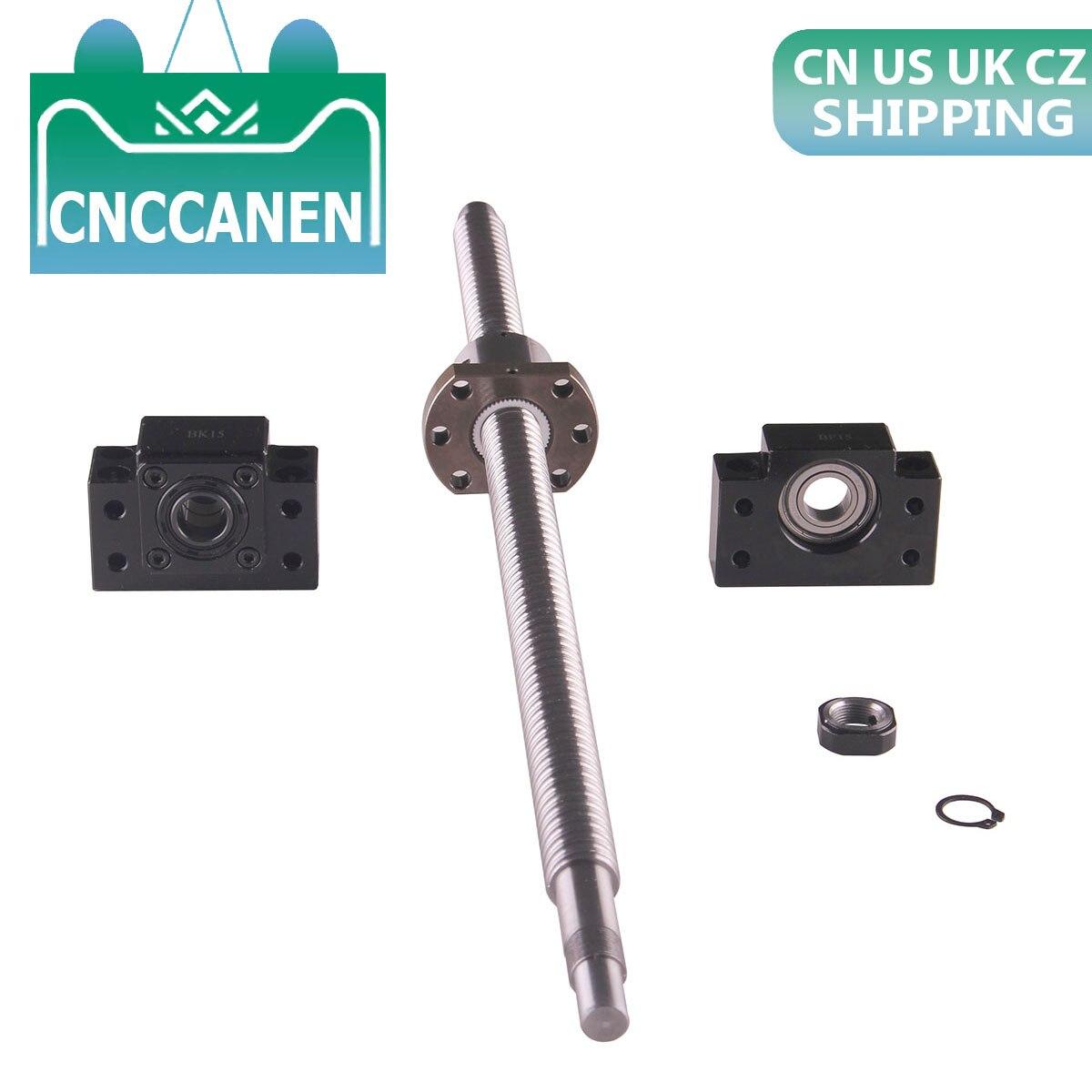 Ballscrew SFU2005 Length 400mm 500mm 600mm 800mm 1000mm 1500mm 1600mm RM2005 Ball Screw End Machined &Ballnut & BK15&BF15 Set