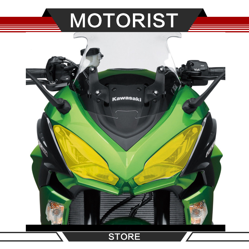 For KAWASAKI Z1000SX <font><b>Z1000</b></font> SX 2017 <font><b>2018</b></font> NINJA 1000 Acrylic Motorcycle accessories Headlight Protector Cover Screen Lens image