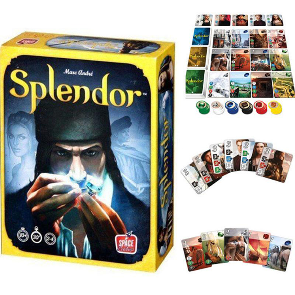 Splendor Board Game Popular Card Game 2-4 Players Table Games For Adults Family Party Toy Gift