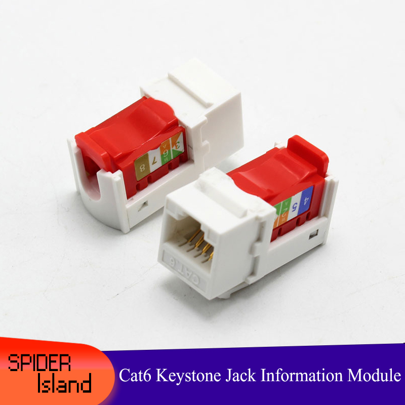New Amp Cat 6 CAT6 Keystone Jack Information Network Rj45 Connector Adapter Module
