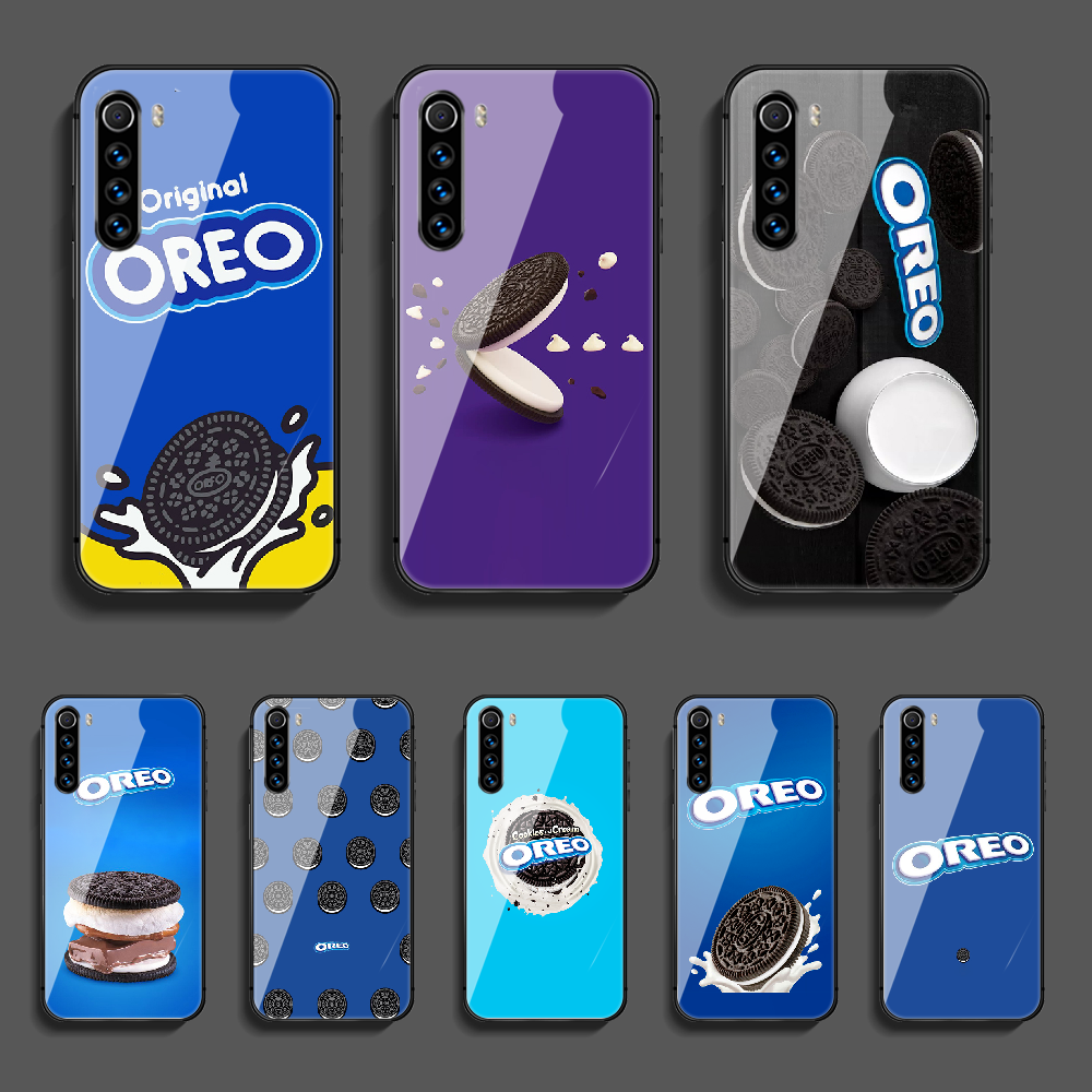 Chocolate Pocky Oreo Phone Tempered Glass Case Cover For Xiaomi Redmi Note 7 7A 8 8T 9 9S 9A 10 K20 K30 Pro Ultra Shell Soft