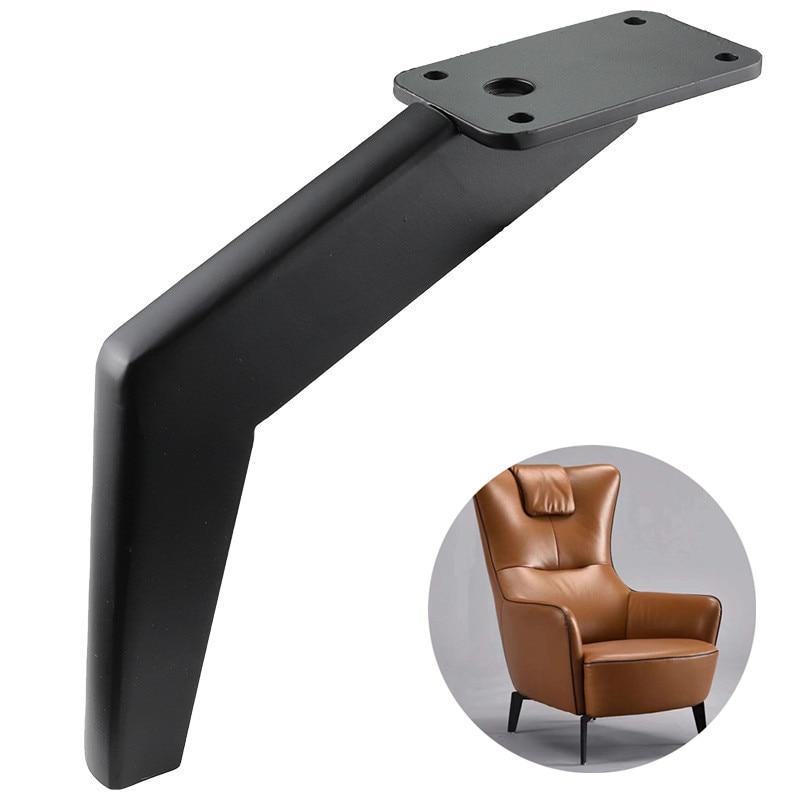 4pcs Bending Metal Furniture Legs Square Cabinet Wood Table Legs For Sofa Feet Foot Bed Riser Furniture Accessories