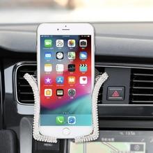 Universal Car Phone Holder with Bling Crystal Rhinestone
