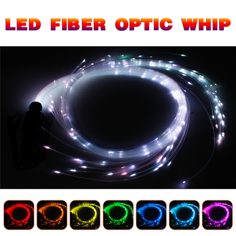 LED Optic Fiber Lights DC12V 3W 40 Modes 150cm Fiber Optic Whip LED Lighting Long Lamp Lifespan Ambilight LED Strip