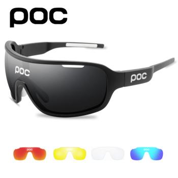 4 soczewki POC okulary rowerowe okulary zewnętrzne mężczyźni kobiety okulary rowerowe tanie i dobre opinie CN (pochodzenie) UV protection 65mm MULTI 150mm Z poliwęglanu Unisex Octan
