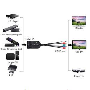 Image 5 - Адаптер преобразователь HDMI в масштабирующий компонент RGB (YPbPr) для видео + R/L аудио преобразователь для HD TV PS3