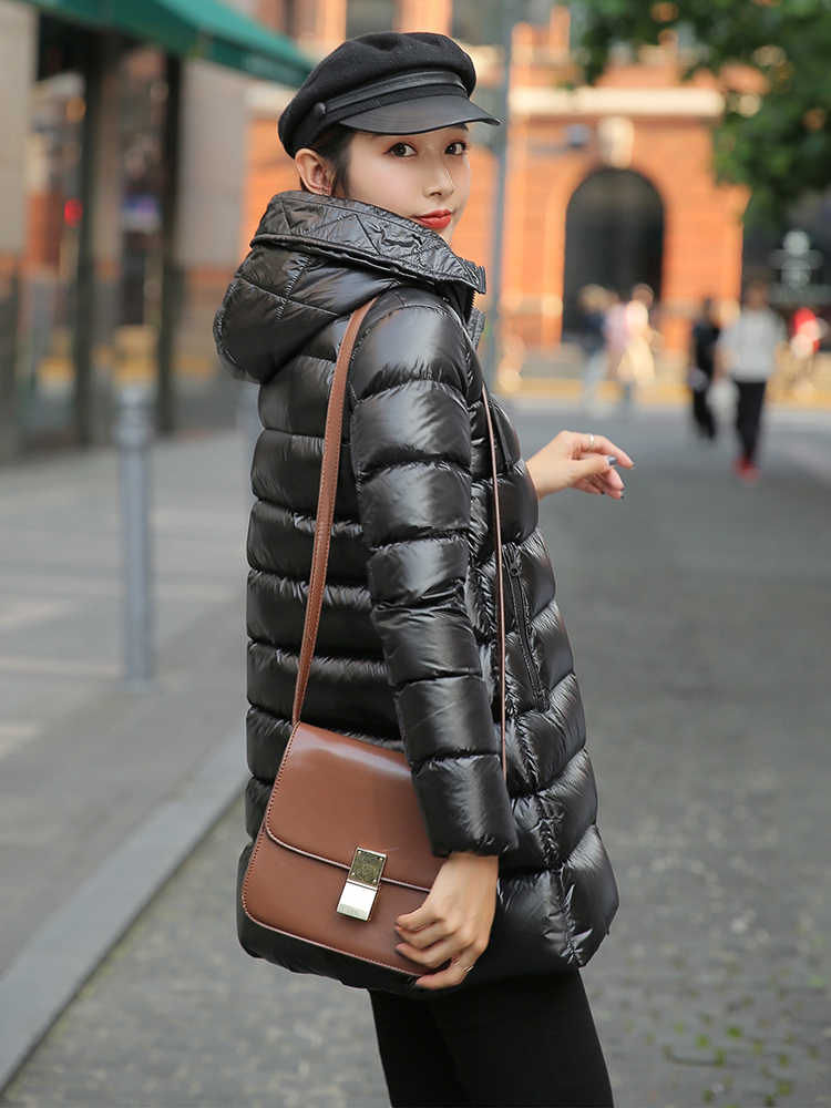 2020 New Brand Women's Jacket Women Thick Warm 90 % White Duck Coat Female Korean Light Down Parkas Hiver 907