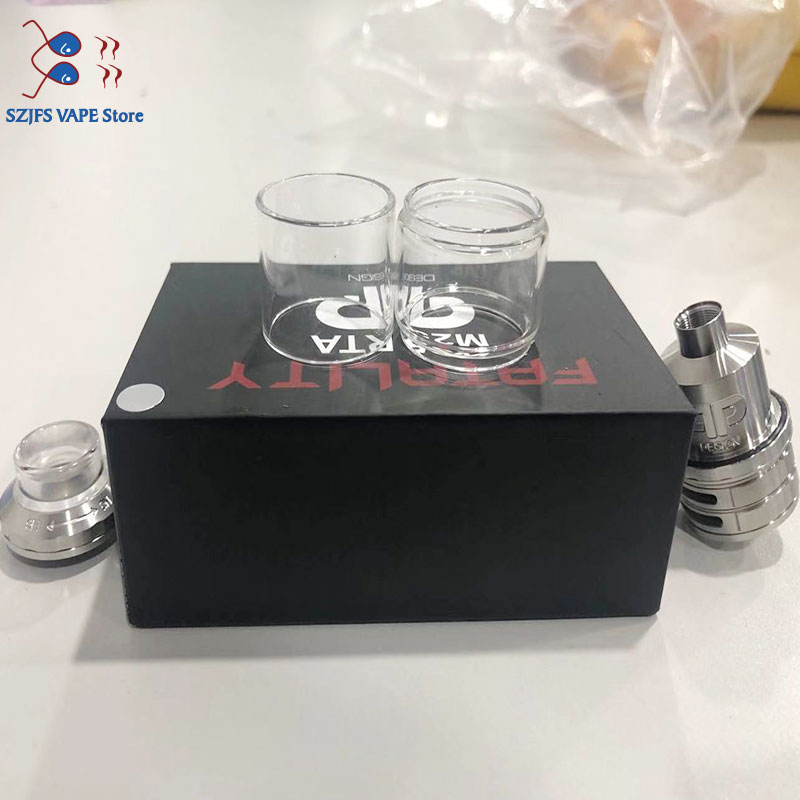 5PCS Good Quality Nice Glass Tube Replacement For QP Fatality M25 RTA Normal Version 4ml/Fatboy Version 5.5ml Vs Qp Gata